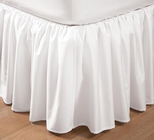 400スレッドカウント ギャザーベッドスカート